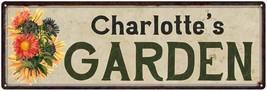 Charlotte's Garden Chic Flower Sign Vintage Décor 8x24 Metal Sign  82400... - £37.82 GBP