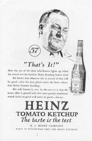A 1927heinzketchup