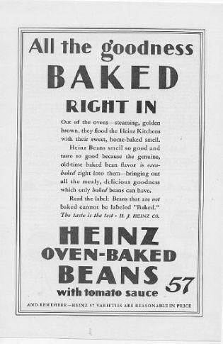 1927 Heinz 57 Ketchup and Beans 3 Vintage Magazine Ads
