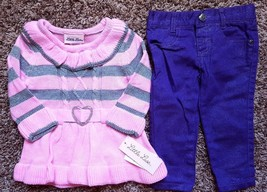Girl's Size 12 M Month NWT Pink Silver Little Lass Sweater, NWOT Healtht... - $23.00