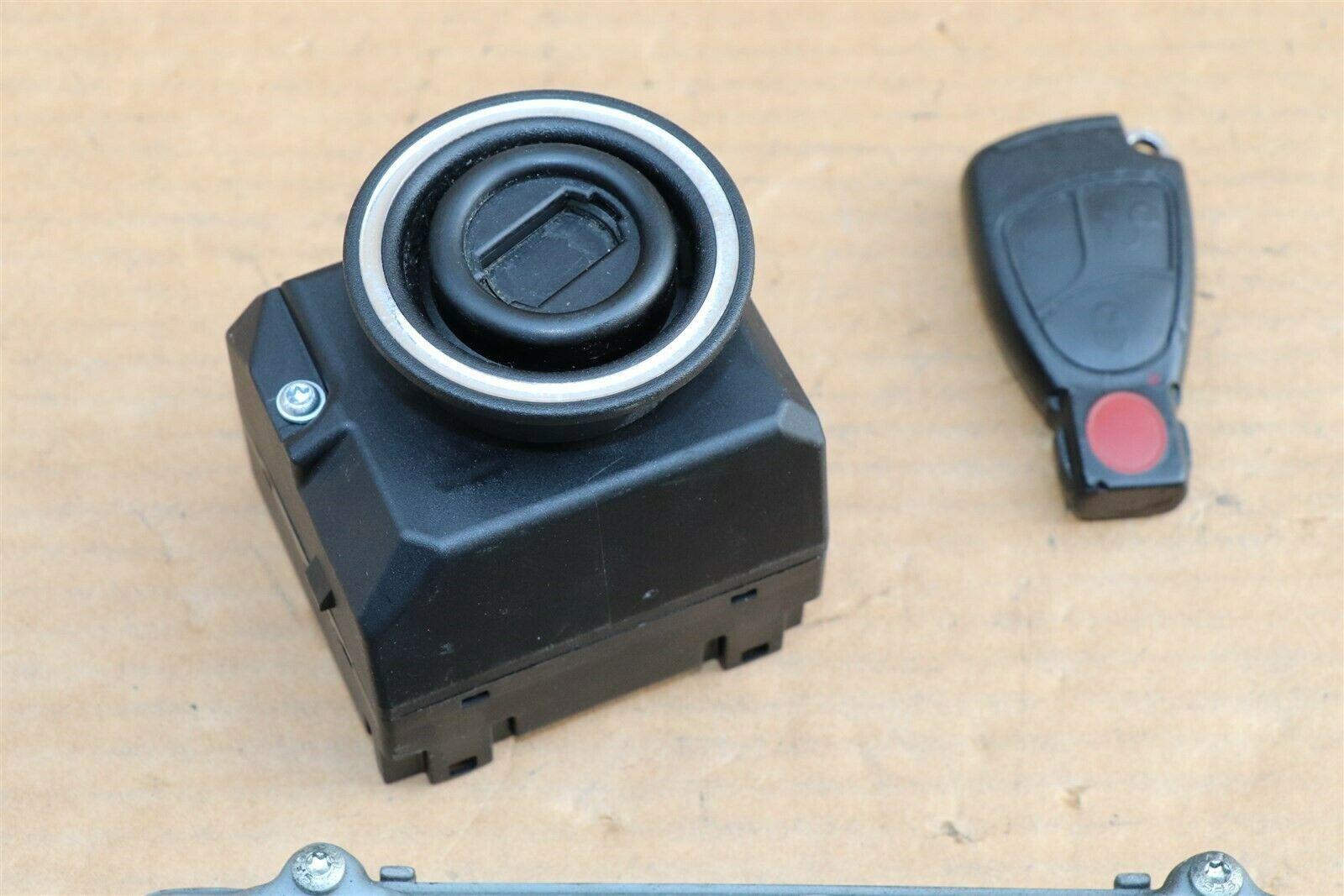 Mercedes Ignition Start Switch Module & Key Fob Keyless Entry Remote 2095451908