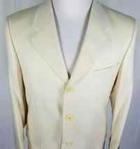 Brandini NEW Blazer Sport Coat Mens Size 38 Short Three Button Ivory 100... - $47.47