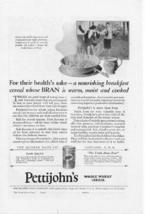 1927 Pettijohns Whole Wheat Cereal Vintage Print Ad - $2.50