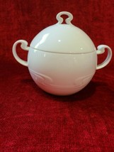 Rosenthal Asymmetria White Round Covered Vegetable Serving Bowl  - $48.50