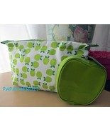 2pc Clinique Green Apple Fruit Cosmetic Bag and Coin Purse - $11.87