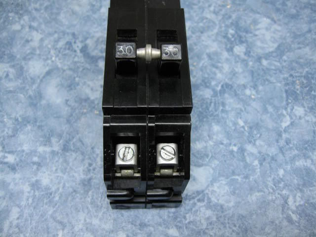 zinsco 2 pole 30 amp breaker gte sylvania q or qc