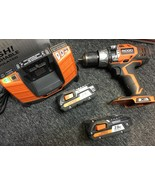 RIDGID Tool Set - Drill/Driver W/ 2 Battery & a Charger -USED -Tested Wo... - $125.00