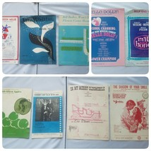 Vintage 1960s Sheet Music Lot of 9 Songs Assorted Collectible - $37.19