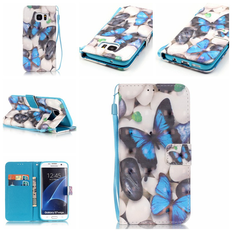 TPU Protective Case for Samsung S6 Edge Plus with Wallet Slot Kickstand