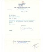 1989 PETER O'MALLEY SIGNED LETTER BROOKYN LOS ANGELES DODGERS FUTURE HOF... - $36.99