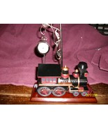 Antique Train and Clock Table Statue - $23.95