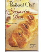 Pampered Chef Season's Best Recipe Collection Fall Winter 02 - $3.00