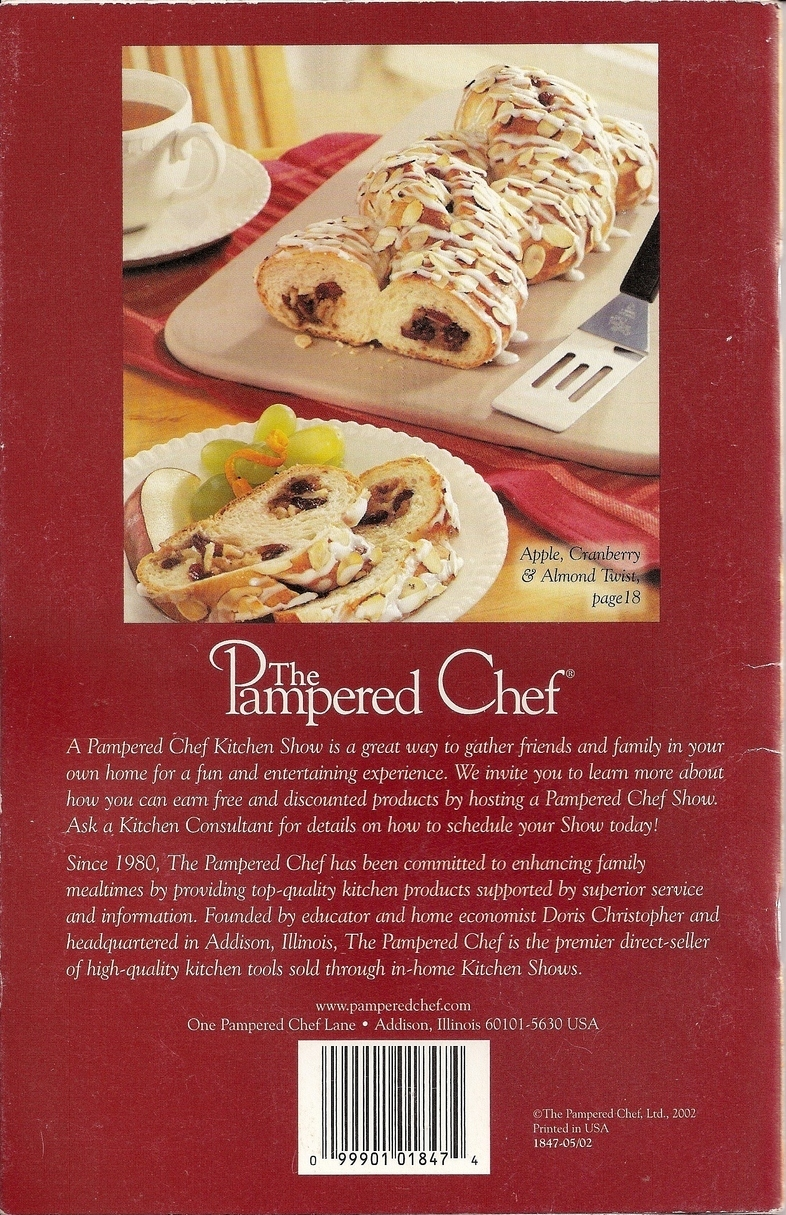 Pampered Chef Season's Best Recipe Collection Fall Winter 02