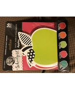 """Schoolgirl Style 36pc Hello Sunshine - Apples Colorful Cut-Outs 6"""" x 3.5"""" - $8.95"""