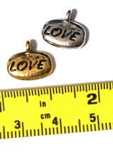LOVE (WORD) FINE PEWTER PENDANT CHARM image 2