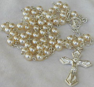Primary image for White small pearls Rosary
