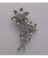 Rhinestone Crystal Hair Clip Flowers Lady Ellen Vintage - $19.00