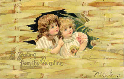 My Valentine, vintage 1906 Post Card