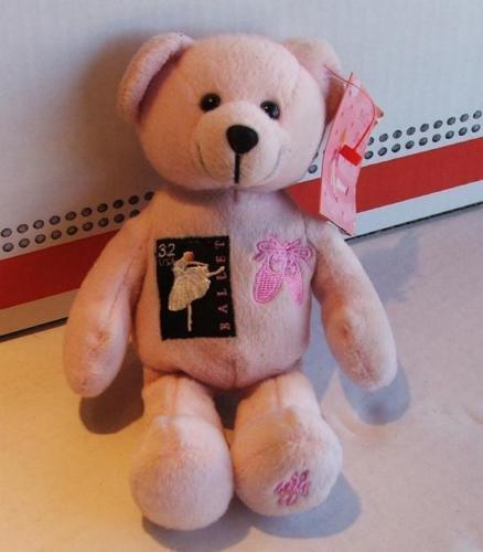 US Postal Reach for the Stars Postal Ballet Plush Bear