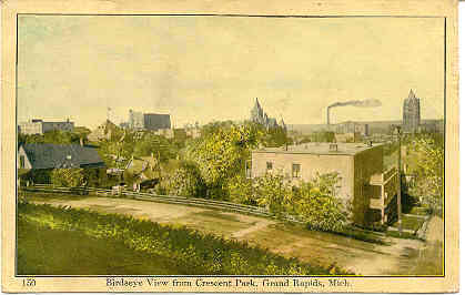 Grand Rapids Michigan Birdseye View 1908 Post Card