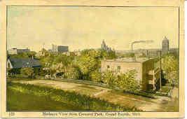 Grand Rapids Michigan Birdseye View 1908 Post Card - $5.00