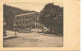 Galeton Pennsylvania Hotel Edgcomb 1908 Vintage Post Card - $5.00