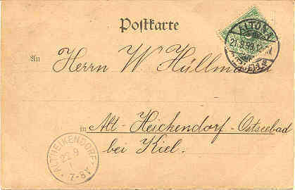 Gruss aus Oevelgonne Germany Vintage 1899 Post Card