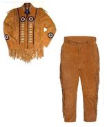 New Men's Native American Buckskin Brown Suede Leather Jacket & Pant WS23 - $197.01+