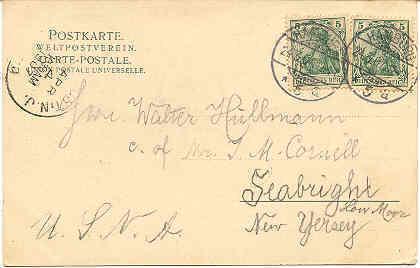 Gruss aus Carl Bans Klub Vintage 1907 Post Card