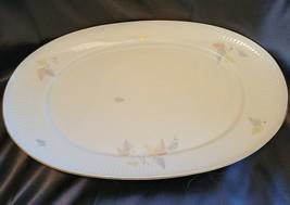Thomas Rosenthal Large China Platter in Pastel Leaf Pattern - $39.60