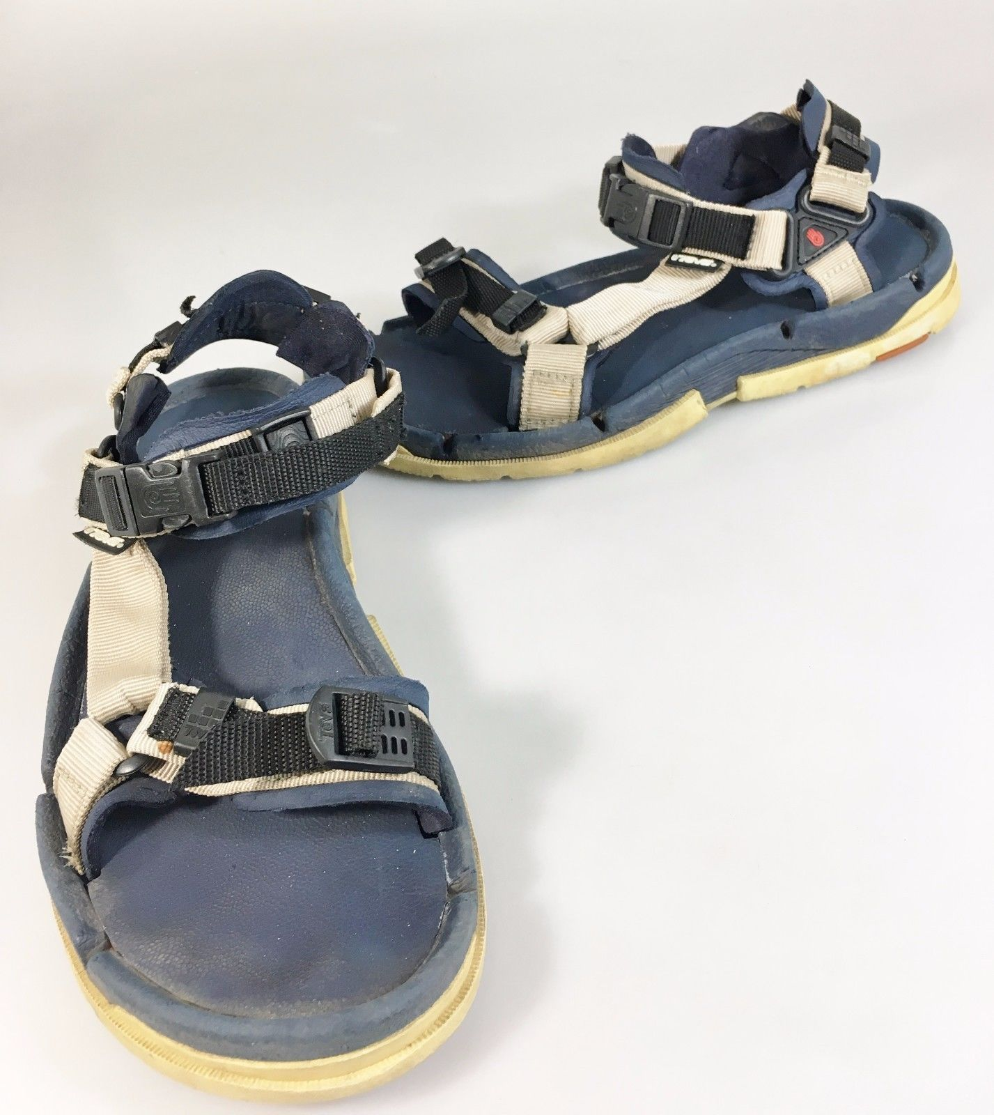 9a19181b7433 Teva Womens 9 Blue White Sport Sandals 6879 and 50 similar items