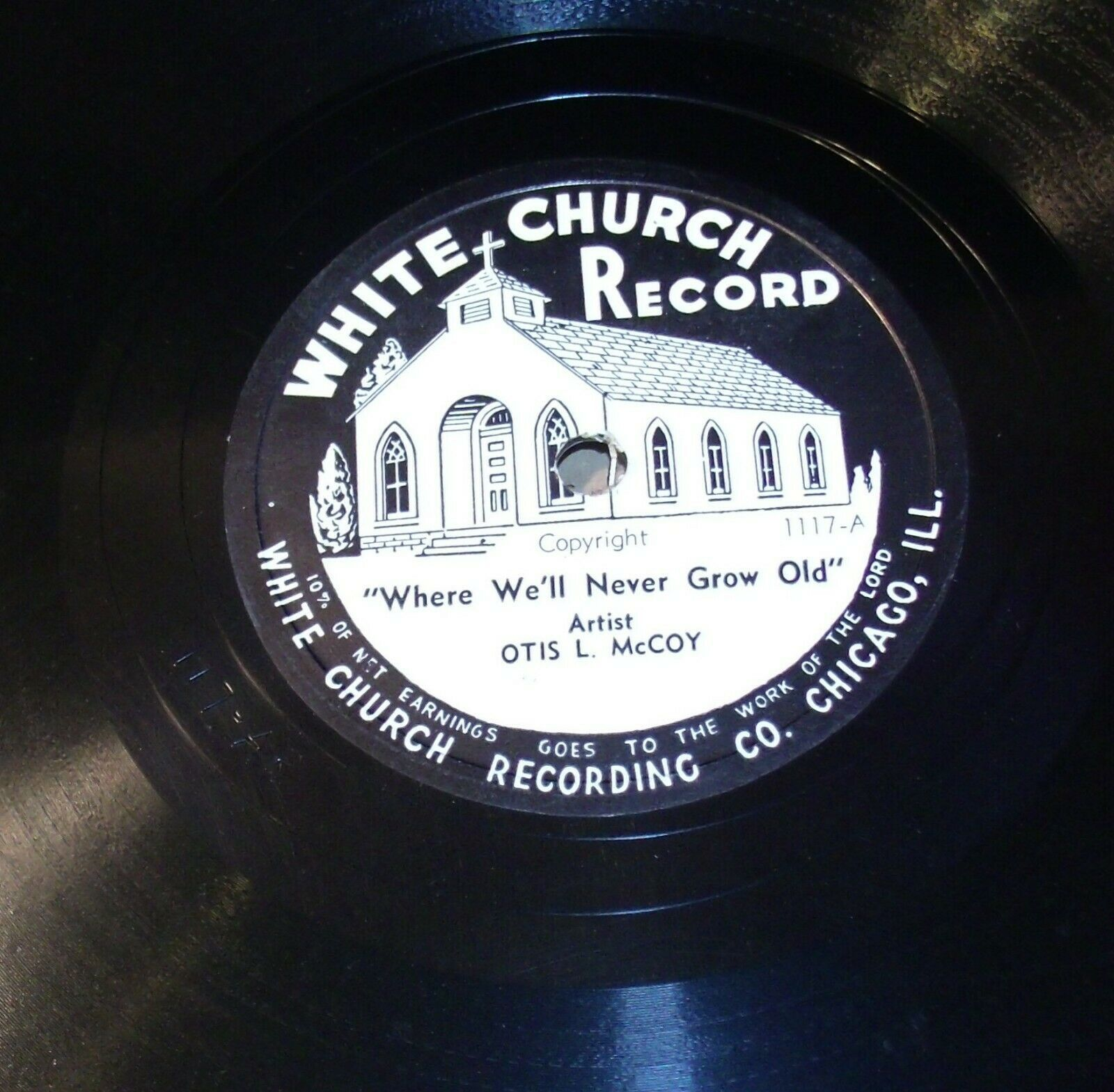 White Church Record # 1117 AA-191720J Vintage Collectible