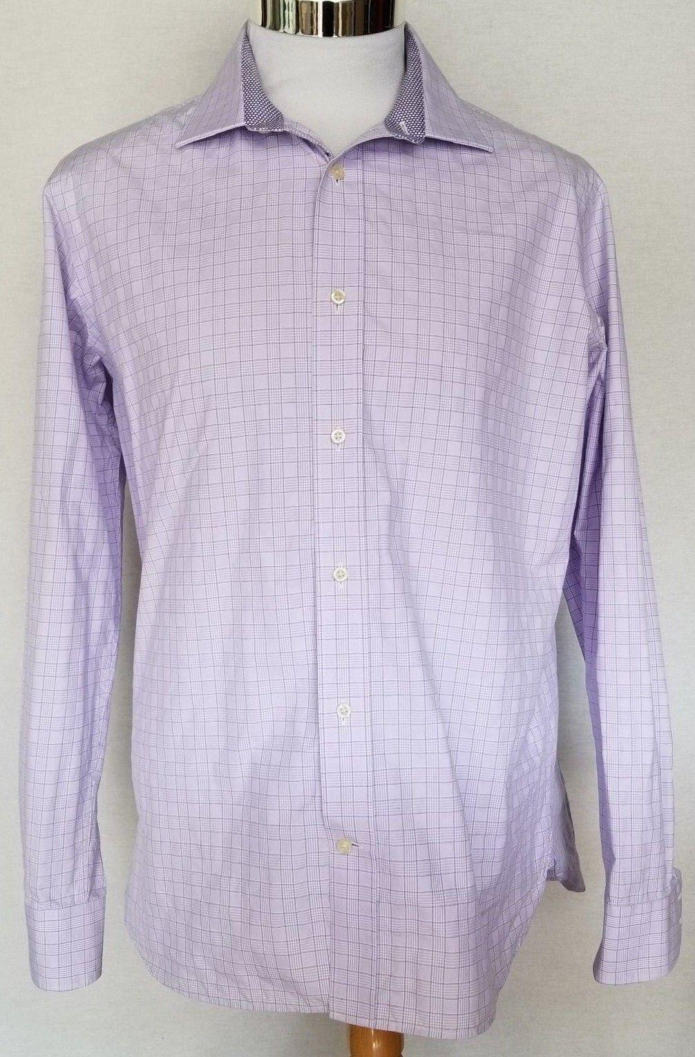 Ted Baker Endurance Purple Classic Fit Long Sleeve Button Front Dress Shirt