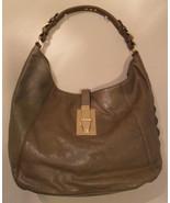 MICHAEL KORS Calista Derby Olive Green Leather Shoulder Handbag (MAKE AN... - $197.01