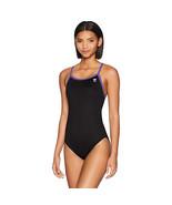 TYR Womens Hexa Diamondfit Swimsuit, Black/Purple, 38 - $49.49