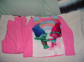 DreamWorks Troll Sleepwear 2 Piece Pajamas loungewear Size 7/8 - $5.00