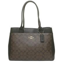 BRAND NEW WOMEN'S COACH (F31475) SIGNATURE BROWN BLACK PVC CASEY TOTE HA... - $129.00