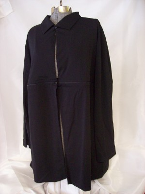 Avon Zip Jacket Or Duster New Black Size 2X