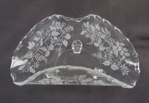 Primary image for Fostoria Lacy Leaf triangle dish footed crimped top bon bon