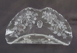 Fostoria Lacy Leaf triangle dish footed crimped top bon bon - $14.80