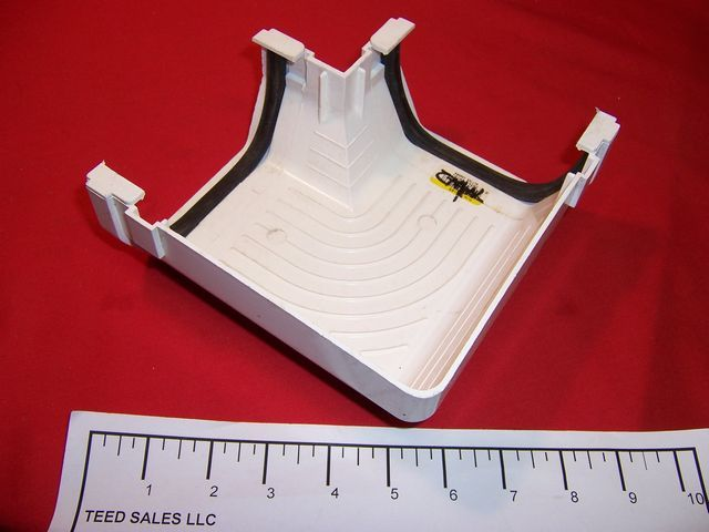 Raingo Vinyl Gutter Inside/Outside Corner RB/RW-103WHT