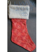 Handmade Red Dot Swirl with Faux-Fur Holiday Christmas Stocking Large  - $12.99