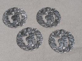 Royal Gallery Silver Christmas Coasters Holiday - $5.00