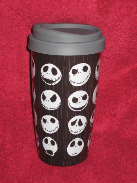 DISNEY STORE Nightmare before Christmas JACK Travel Tumbler Coffee Cup / Mug
