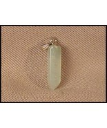Beautiful Gemstone POINT Pendant Metaphysical nice color green # 419IAK - $4.92