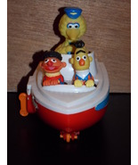 Vintage ILLCO Sesame Street Wind Up Boat Big Bi... - $14.99