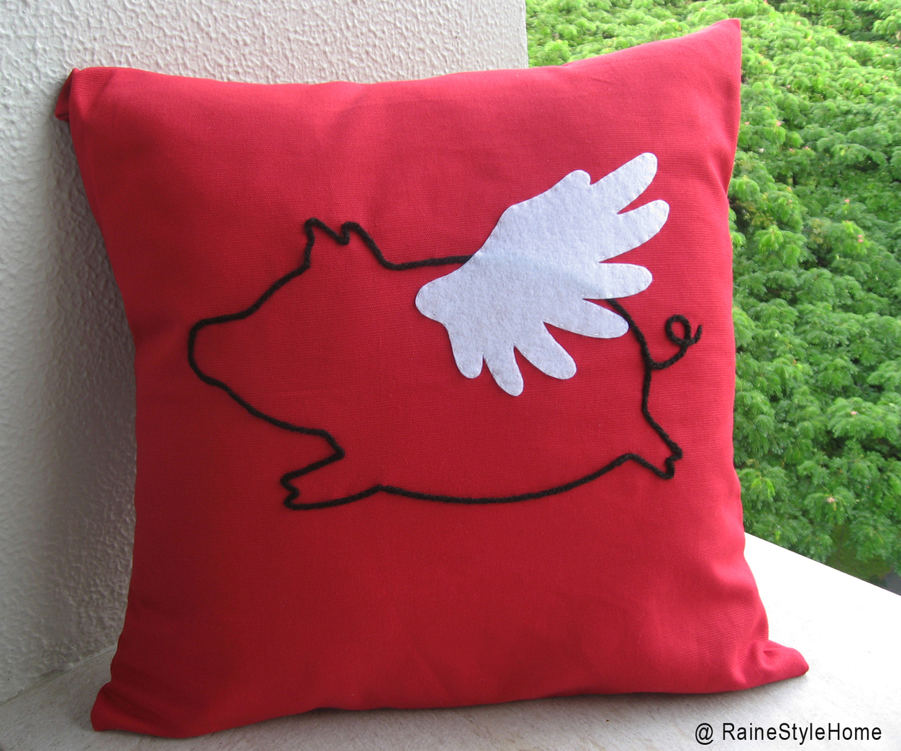 When Rabbit Flys In Spring. Dreaming. Lavender Pillow Cover