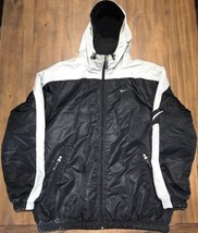 Nike Men's Large Hood Jacket Black & Gray ( Starter Raiders Style ) - $69.78