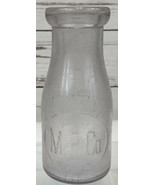 M.P. Co. Embossed Milk Bottle 10 oz 1/3 quart Battle Creek MI ULTRA RARE... - $48.88