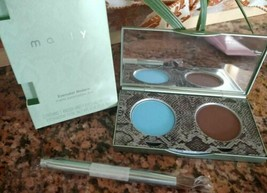 Mally Evercolor Modern Matte Eyeshadow Duo Earth Brown & Sky Blue + Brush Boxed! - $7.91